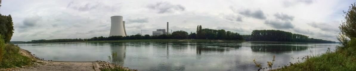 Das AKW Philippsburg liegt direkt am Rhein