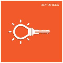 Creative light bulb idea concept with padlock symbol. Key of ide