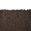 Leinwanddruck Bild - Soil section texture isolated on white