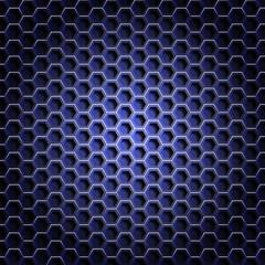 Realistic hexagonal grid background.