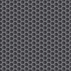 Realistic hexagonal grid background.