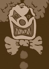 Evil clown vintage