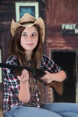 Cowgirl Teen with a Gun