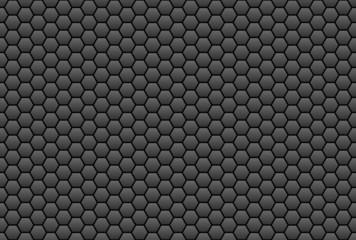 Wabenmuster in schwarz-grau als Hintergrund