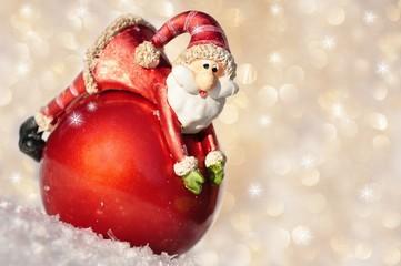 Weihnachtsmann auf Cristbaumkugel,Freiraum