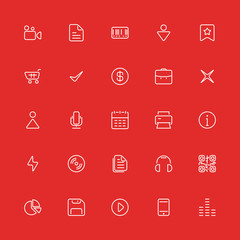 Set line icons. Vector for ui, web, mobile app, Internet.