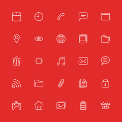 Set line icons. Vector for ui, web, mobile app, Internet.