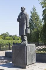Памятник Николаю Рубцову в городе Вологде, Россия