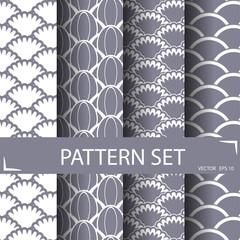 wave pattern set, seamless pattern