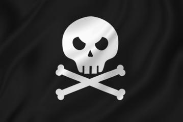 Pirate skull with crossed bones.