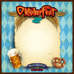Scroll the menu Oktoberfest