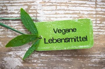 Vegane Lebensmittel Label