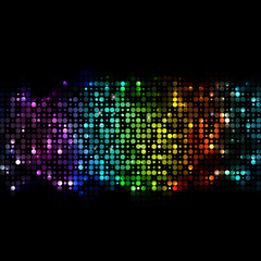 Shiny colorful lights, abstract background illustration