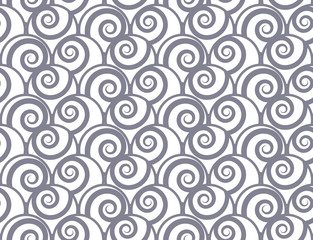curve seamless pattern, vector endless texture