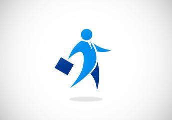 business man abstract icon vector logo