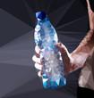 Plastic water bottle vector geometric illustration