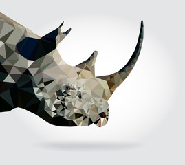 Rhino head vector geometric modern illustration