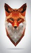 Fox head vector isolated geometric modern illustration