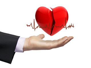 illness electrocardiogram concept