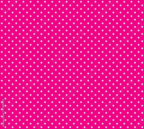 canvas print picture Hintergrund pink mit weißen Pünktchen