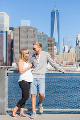 Caucasian Couple Visiting New York