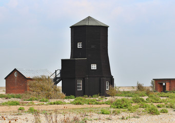Black Wooden Tower on Orford Ness, Suffolk England