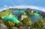 Wayag Islands of Raja Ampat (Fish eye Version)