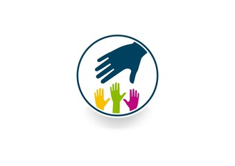 child helping hand logo