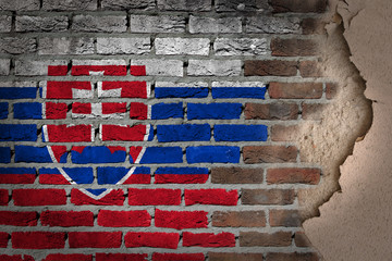 Dark brick wall with plaster - Slovakia