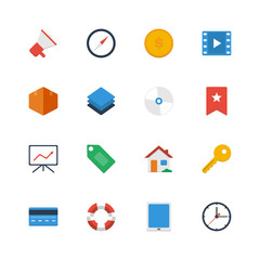 Set flat vector icons. Icons for web site, app, ui.