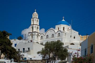 Orthodox Church in Pyrgos, Santorini, Greece.
