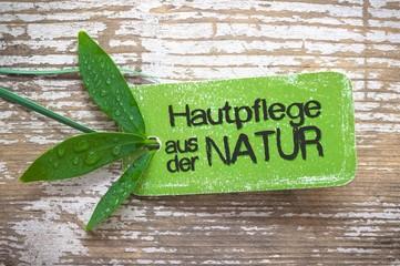 Hautpflege aus der Natur - Label