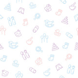 Seamless pattern for baby .