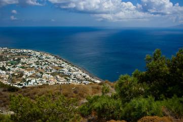 City Kamari, Santorini island, Greece.
