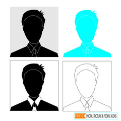 profile picture icon set