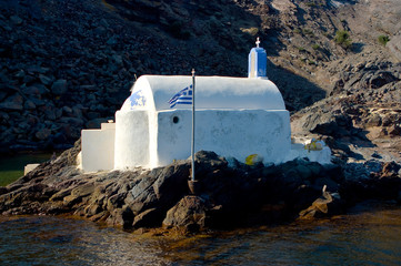 Orthodox Church in Santorini Island, Greece.