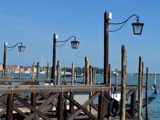 dock for gondolas in Venice