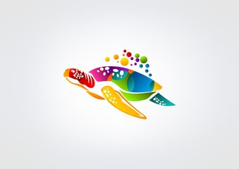 Logo business turtle Vector