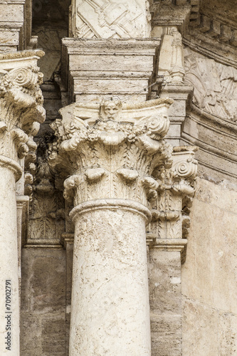 ornaments and sculptures of Gothic style, Spanish Ancient Art © Fernando Cortés