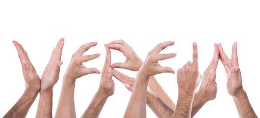 Viele Hände formen das Wort Verein