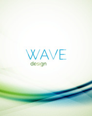 Flowing wave of blending colors