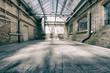Leinwanddruck Bild - alte industriehalle 4