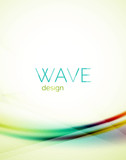 Blue and green flowing color design wave