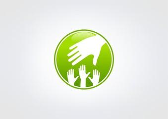 Green Helping Hand logo