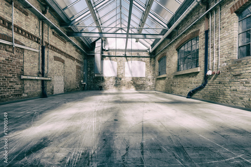 canvas print picture alte industriehalle 4