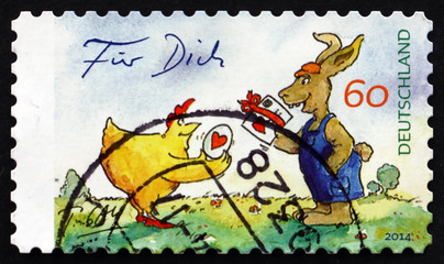 Postage stamp Germany 2014 For You, The Easter Present