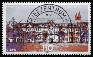 Postage stamp Germany 2001 State Parliament of Saxony-Anhalt