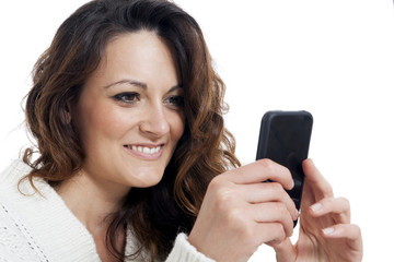 young beautiful girl using smart phone