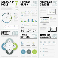 Infographic Tools 7 - Business Vector Elements for Infographics