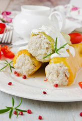 delicious stuffed paprika
